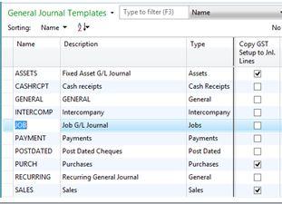 General Journal Templates